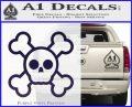 Chibi Skull And Crossbones Decal Sticker PurpleEmblem Logo 120x97