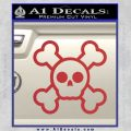 Chibi Skull And Crossbones Decal Sticker Red 120x120