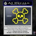 Chibi Skull And Crossbones Decal Sticker Yellow Laptop 120x120