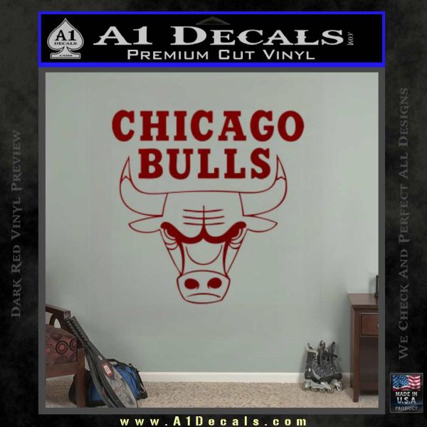 Chicago Bulls Stacked Decal Sticker  A Decals - Custom vinyl decals chicago