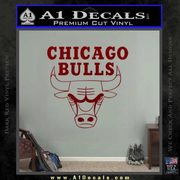 Chicago Bulls Stacked Decal Sticker  A Decals - Custom vinyl decals chicago