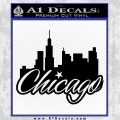 Chicago City Decal Sticker Black Vinyl 120x120