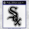 Chicago White Sox Decal Sticker Black Vinyl 120x120