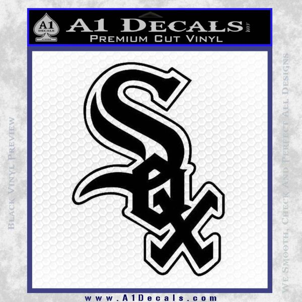 Chicago white sox decal sticker black vinyl