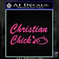 Christian Chick Decal Sticker Pink Hot Vinyl 120x120