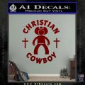 Christian Cowboy Decal Sticker DRD Vinyl 120x120