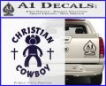 Christian Cowboy Decal Sticker PurpleEmblem Logo 120x97