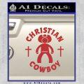 Christian Cowboy Decal Sticker Red 120x120