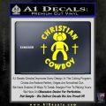 Christian Cowboy Decal Sticker Yellow Laptop 120x120