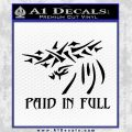 Christian Decal Sticker Paid In Full Black Vinyl 120x120