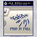 Christian Decal Sticker Paid In Full Blue Vinyl 120x120