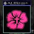 Christian Hibiscus Decal Sticker Pink Hot Vinyl 120x120