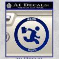 Chuck Tv Nerd Herd CR Decal Sticker Blue Vinyl 120x120
