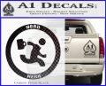 Chuck Tv Nerd Herd CR Decal Sticker Carbon FIber Black Vinyl 120x97