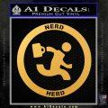 Chuck Tv Nerd Herd CR Decal Sticker Gold Vinyl 120x120
