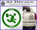Chuck Tv Nerd Herd CR Decal Sticker Green Vinyl Logo 120x97
