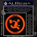 Chuck Tv Nerd Herd CR Decal Sticker Orange Emblem 120x120