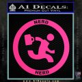 Chuck Tv Nerd Herd CR Decal Sticker Pink Hot Vinyl 120x120