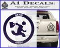 Chuck Tv Nerd Herd CR Decal Sticker PurpleEmblem Logo 120x97