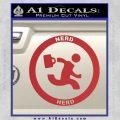 Chuck Tv Nerd Herd CR Decal Sticker Red 120x120