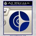 Clarion Decal Sticker Circle Blue Vinyl 120x120