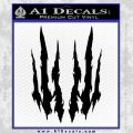 Claw Rip Decal Stickers Black Vinyl 120x120