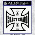 Coast Guard Iron Cross Decal Sticker Black Vinyl 120x120