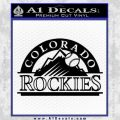 Colorado Rockies Decal Sticker Black Vinyl 120x120