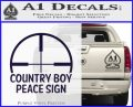 Country Boy Peace Sign Decal Sticker PurpleEmblem Logo 120x97