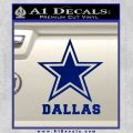 Cowboys D1 Dallas Decal Sticker Blue Vinyl 120x120
