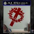 Cross Crucifix Decal Sticker Christian Thorns DRD Vinyl 120x120