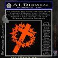 Cross Crucifix Decal Sticker Christian Thorns Orange Emblem 120x120