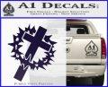 Cross Crucifix Decal Sticker Christian Thorns PurpleEmblem Logo 120x97