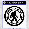Crypto Zoologist Bigfoot Hunter Decal Sticker Black Vinyl 120x120