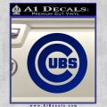 Cubs Decal Sticker Chicago Blue Vinyl 120x120