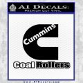 Cummins Coal Rollers Decal Sticker Black Vinyl 120x120