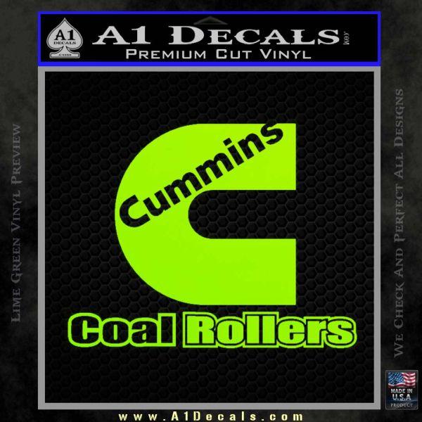 Cummins Coal Rollers Decal Sticker 187 A1 Decals
