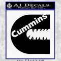 Cummins Teeth Decal Sticker Diesel Black Vinyl 120x120