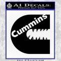 Cummins Teeth Decal Sticker Diesel Black Vinyl 120x120