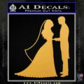 Custom Bride and Groom Decal Sticker Gold Vinyl 120x120