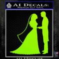 Custom Bride and Groom Decal Sticker Lime Green Vinyl 120x120