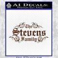 Custom Family Name Decal Sticker D1 BROWN Vinyl 120x120