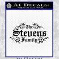 Custom Family Name Decal Sticker D1 Black Vinyl 120x120