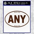 Custom Oval Decal Sticker BROWN Vinyl 120x120
