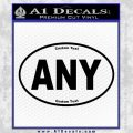 Custom Oval Decal Sticker Black Vinyl 120x120