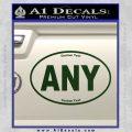 Custom Oval Decal Sticker Dark Green Vinyl 120x120