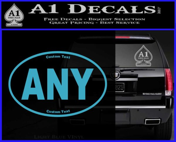 Custom Oval Decal Sticker A Decals - Custom vinyl oval decals
