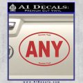 Custom Oval Decal Sticker Red 120x120