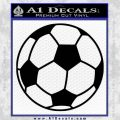 Custom Soccer Decal Sticker Black Vinyl 120x120