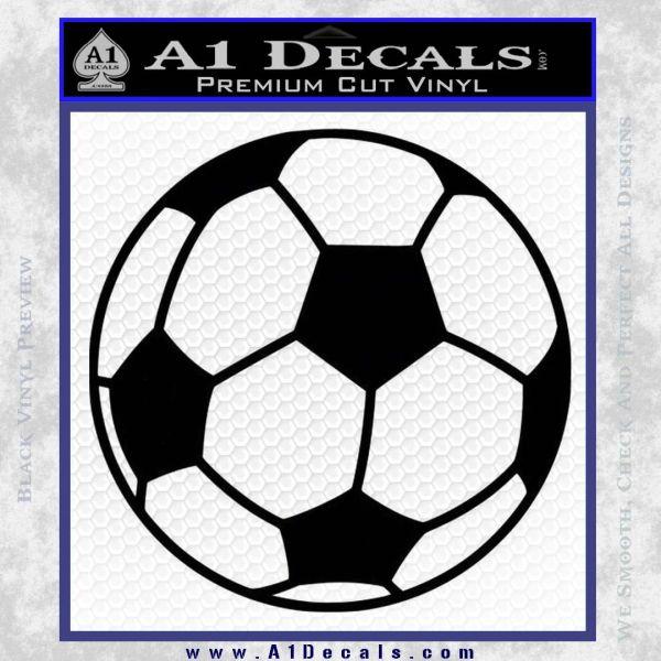 Custom Soccer Decal Sticker Black Vinyl